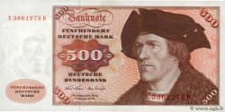 500 Deutsche Mark  GERMAN FEDERAL REPUBLIC  1970 P.35a XF