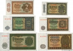 1 au 50 Deutsche Mark Lot GERMAN DEMOCRATIC REPUBLIC  1948 P.09b au P.14b
