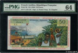 50 Francs  FRENCH ANTILLES  1964 P.09b q.FDC