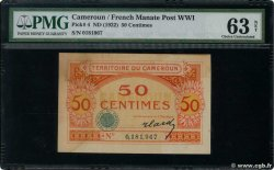 50 Centimes  CAMEROON  1922 P.04