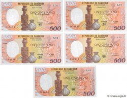 500 Francs Lot CAMERUN  1988 P.24a/b