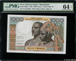 1000 Francs  WEST AFRICAN STATES  1961 P.503Eb UNC-