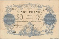 20 Francs type 1871  FRANCE  1871 F.A46.02 VF