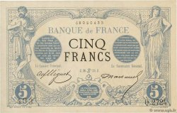 5 Francs NOIR  FRANCE  1873 F.01.19 SUP