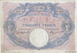 50 Francs BLEU ET ROSE  FRANCE  1901 F.14.13