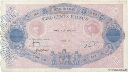 500 Francs BLEU ET ROSE  FRANCE  1915 F.30.22