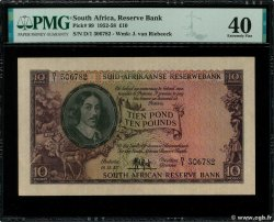 10 Pounds  SUDAFRICA  1952 P.099