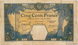 500 Francs GRAND-BASSAM  FRENCH WEST AFRICA Grand-Bassam 1924 P.13D