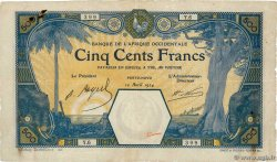500 Francs PORTO-NOVO  FRENCH WEST AFRICA Porto-Novo 1924 P.13E