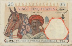 25 Francs  FRENCH WEST AFRICA  1939 P.22