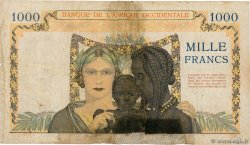 1000 Francs  FRENCH WEST AFRICA  1941 P.24 G