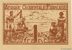 1 Franc  FRENCH WEST AFRICA  1944 P.34b
