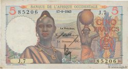 5 Francs  FRENCH WEST AFRICA  1943 P.36