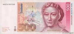 500 Deutsche Mark  GERMAN FEDERAL REPUBLIC  1991 P.43a