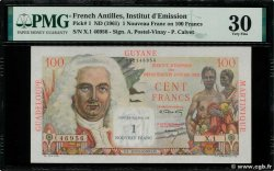 1 NF sur 100 Francs La Bourdonnais  FRENCH ANTILLES  1960 P.01a