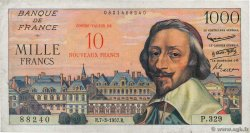 10 NF sur 1000 Francs RICHELIEU  FRANCE  1957 F.53.01 TB+