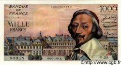 1000 Francs RICHELIEU FRANCE  1954 F.42.05 pr.NEUF