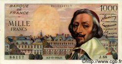 1000 Francs RICHELIEU FRANCE  1954 F.42.09 pr.SPL