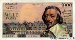 1000 Francs RICHELIEU FRANCE  1955 F.42.10 SUP+