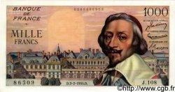 1000 Francs RICHELIEU FRANCE  1955 F.42.10 NEUF