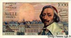 1000 Francs RICHELIEU FRANCE  1955 F.42.14 pr.NEUF