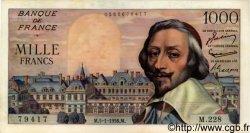 1000 Francs RICHELIEU FRANCE  1956 F.42.18 SPL