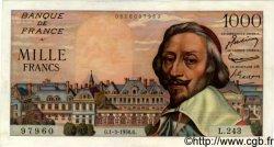 1000 Francs RICHELIEU FRANCE  1956 F.42.19 SUP à SPL