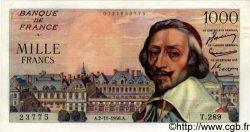 1000 Francs RICHELIEU FRANCE  1956 F.42.23 SUP à SPL