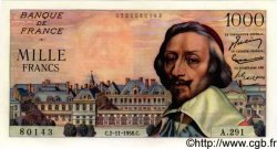 1000 Francs RICHELIEU FRANCE  1956 F.42.23 SUP