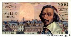 1000 Francs RICHELIEU FRANCE  1956 F.42.24 SPL