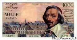 1000 Francs RICHELIEU FRANCE  1956 F.42.24 SPL