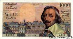 1000 Francs RICHELIEU FRANCE  1957 F.42.25 SUP+ à SPL