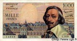 1000 Francs RICHELIEU FRANCE  1957 F.42.25 TTB+