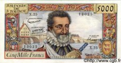 5000 Francs HENRI IV FRANCE  1957 F.49.03 SUP+