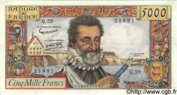 5000 Francs HENRI IV FRANCE  1958 F.49.07 SUP