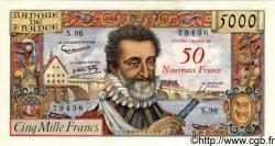 50 NF sur 5000 Francs HENRI IV FRANCE  1958 F.54.01 pr.NEUF
