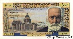 5 Nouveaux Francs VICTOR HUGO FRANCE  1959 F.56.04 SPL+