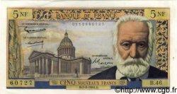 5 Nouveaux Francs VICTOR HUGO FRANCE  1961 F.56.06 SUP+ à SPL