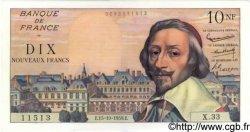 10 Nouveaux Francs RICHELIEU FRANCE  1959 F.57.03 SPL