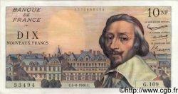 10 Nouveaux Francs RICHELIEU FRANCE  1960 F.57.09 SUP