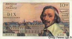 10 Nouveaux Francs RICHELIEU FRANCE  1960 F.57.12 SUP
