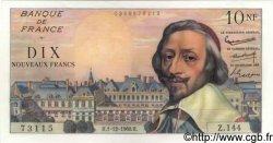 10 Nouveaux Francs RICHELIEU FRANCE  1960 F.57.12 pr.NEUF