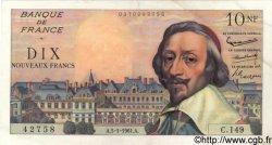 10 Nouveaux Francs RICHELIEU FRANCE  1961 F.57.13 TTB+ à SUP