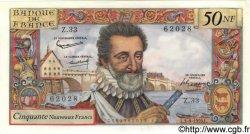 50 Nouveaux Francs HENRI IV FRANCE  1959 F.58.03 pr.NEUF