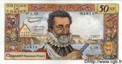 50 Nouveaux Francs HENRI IV FRANCE  1961 F.58.06 SPL+