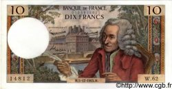 10 Francs VOLTAIRE FRANCE  1963 F.62.06 pr.NEUF