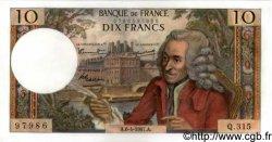 10 Francs VOLTAIRE FRANCE  1967 F.62.26 SPL+