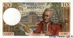 10 Francs VOLTAIRE FRANCE  1972 F.62.58 pr.SPL