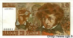10 Francs BERLIOZ FRANCE  1974 F.63.05 SUP+