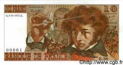 10 Francs BERLIOZ FRANCE  1974 F.63.07a NEUF